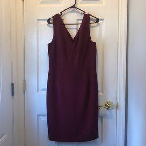 Saks Fifth Avenue Maroon Dress